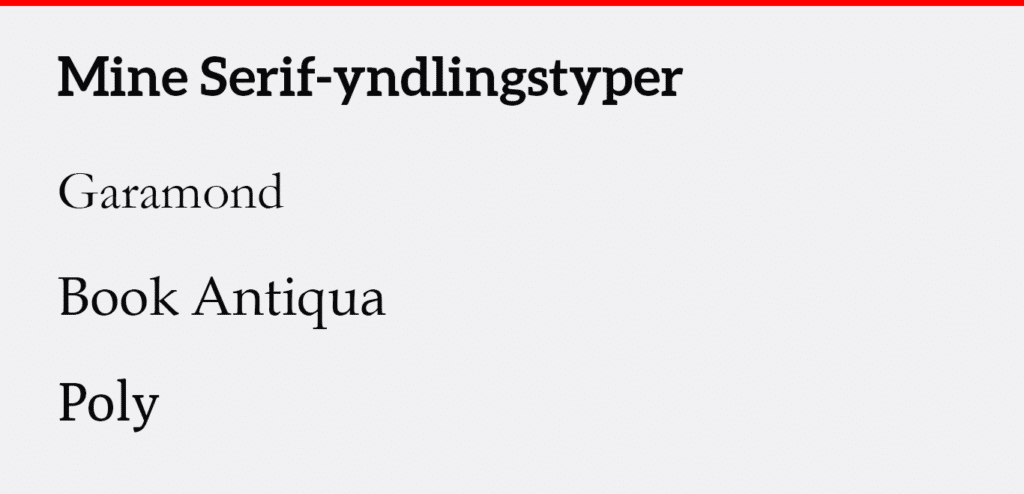 Serif skrifttype