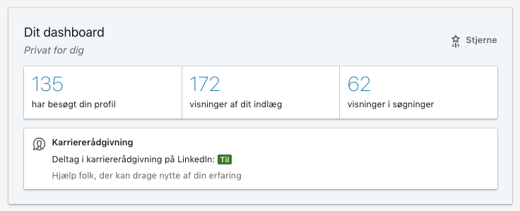 Linkedin-profil visninger