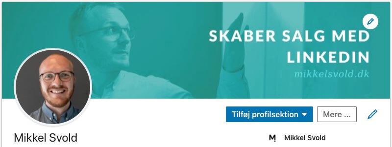 Eksempel på et godt LinkedIn-banner