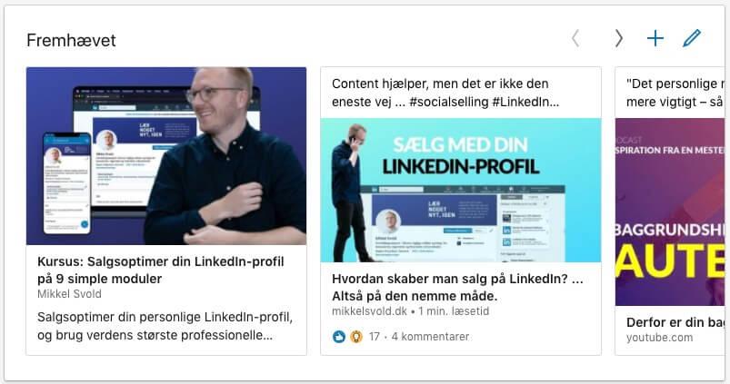 Brug fremhævede elementer på LinkedIn