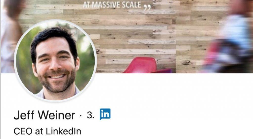 Jeff Weiner –et eksempel på en god LinkedIn-profil