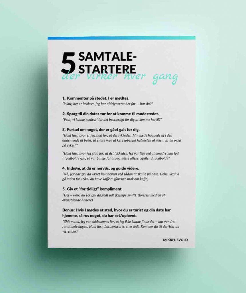 Sådan starter du samtalen på en date – 5 metoder.